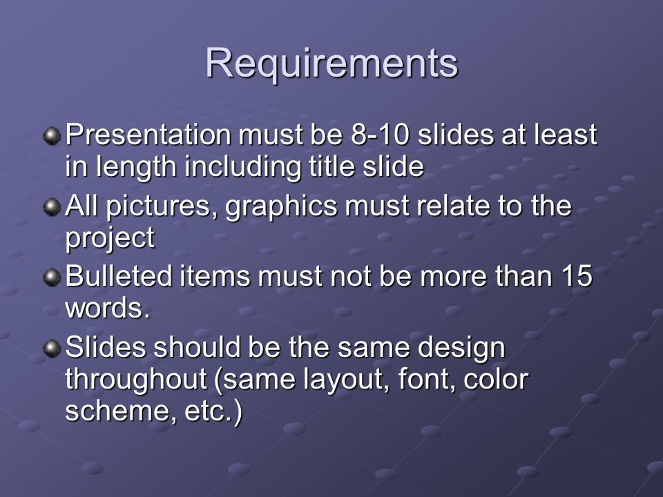 4 requirements presentation