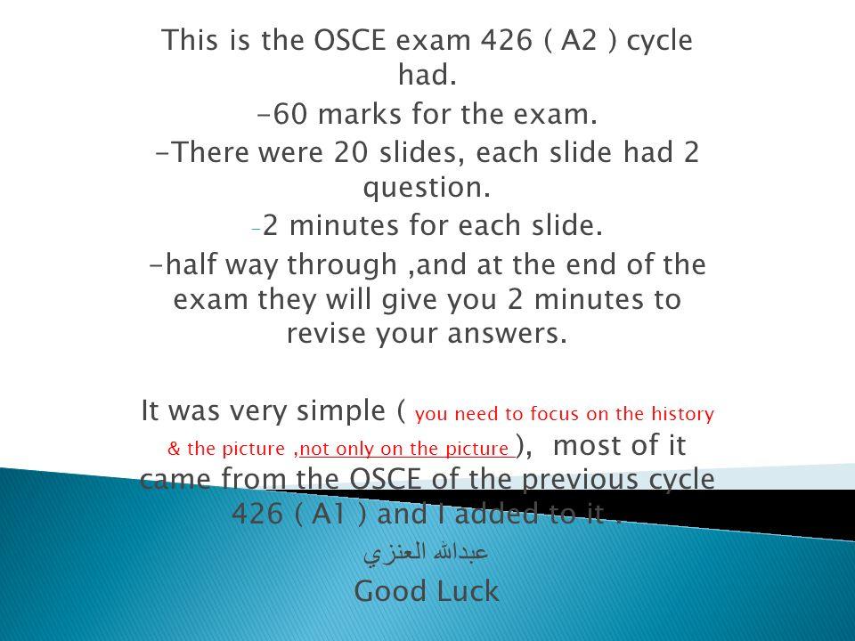 Osce Exam Canada