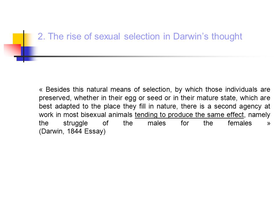 Natural and sexual selection essay
