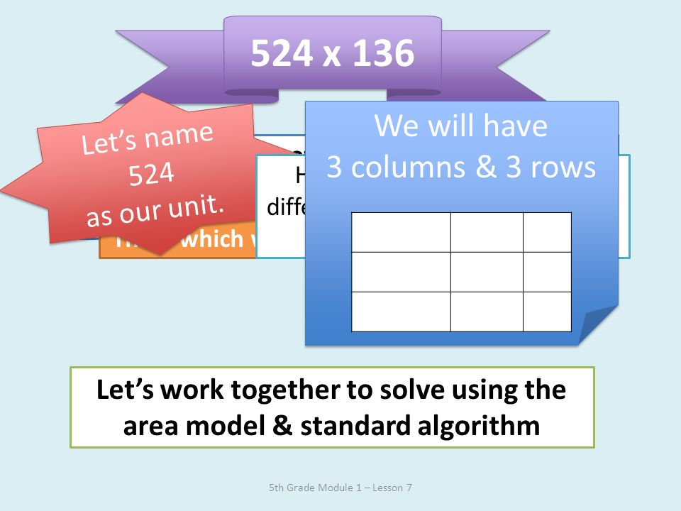 Solution to Application Problem 5th Grade Module 1 – Lesson 7