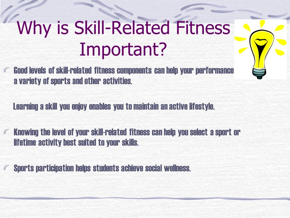 What Are The Differences Between Health And Skill Related Components Of Fitness