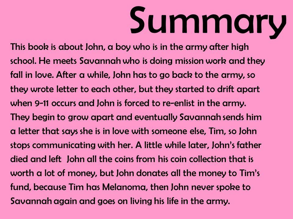 nicholas sparks dear john summary
