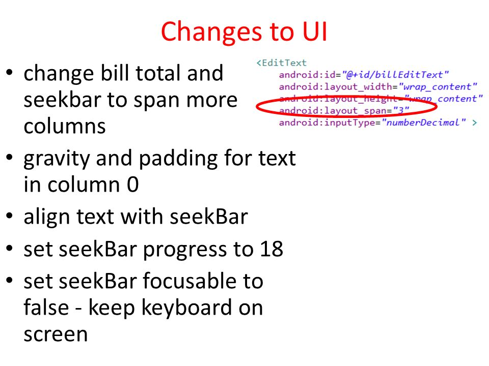 5-1 More UI CSNB544 Mobile Application Development Thanks to