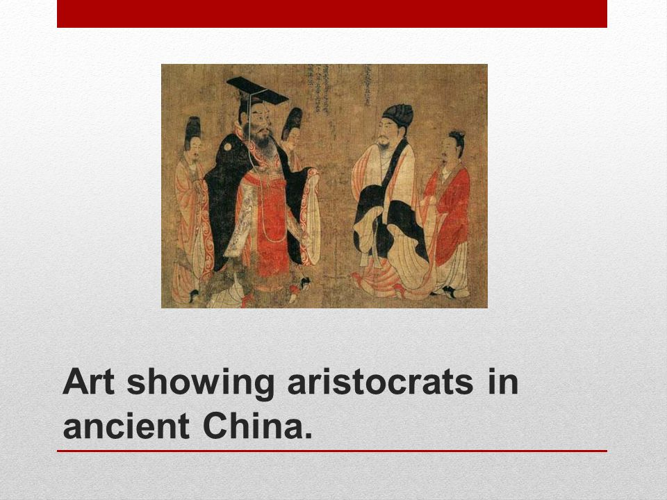 Art showing aristocrats in ancient China.