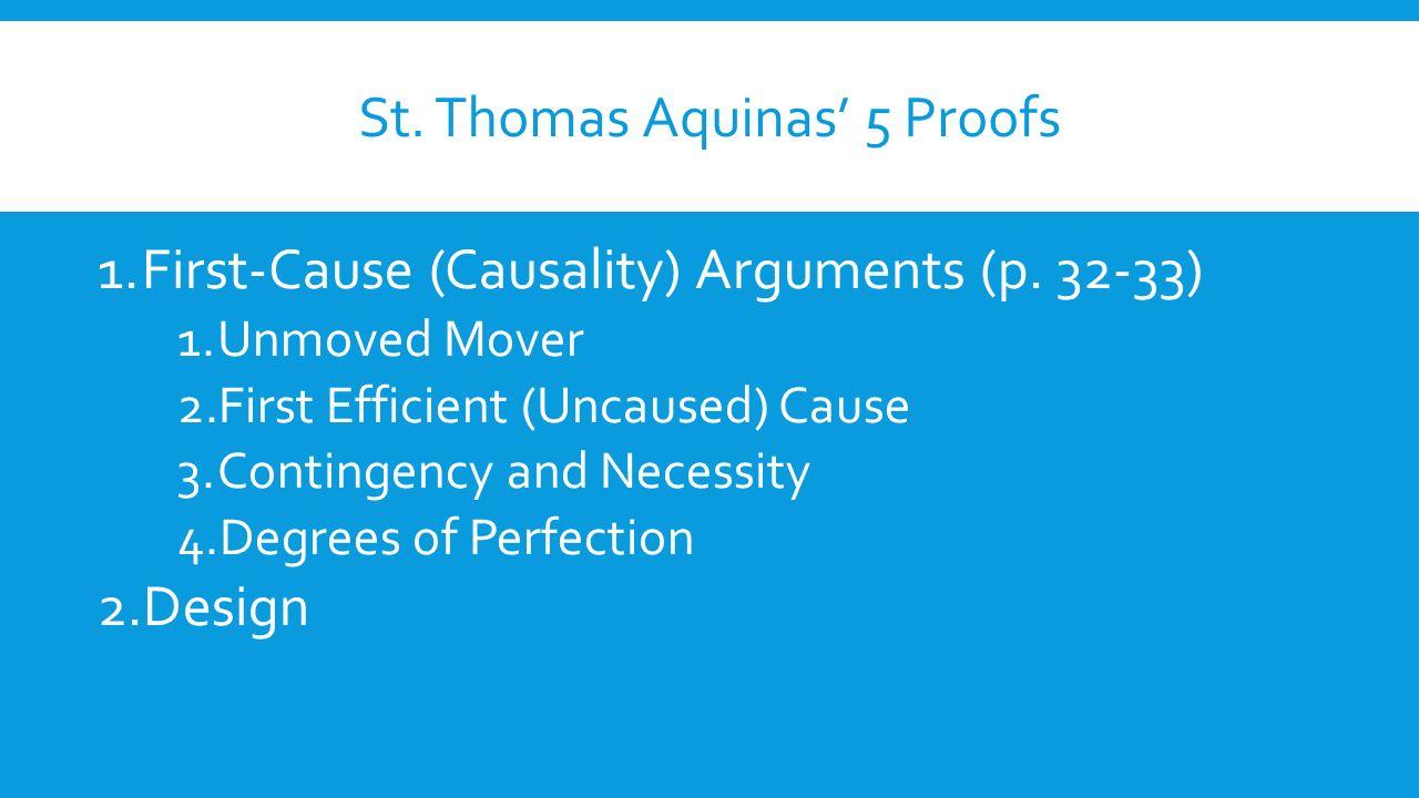 St thomas aquinas reasons why god exists