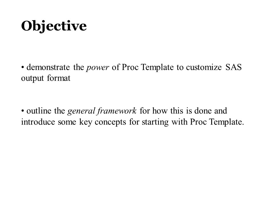 Using the new Version 8 Template Procedure for Complete Control of ...