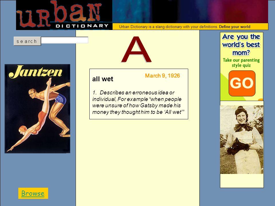 ABDCGFEHJKLIMNOPQRSTUVWXYZ Urban Dictionary is a slang