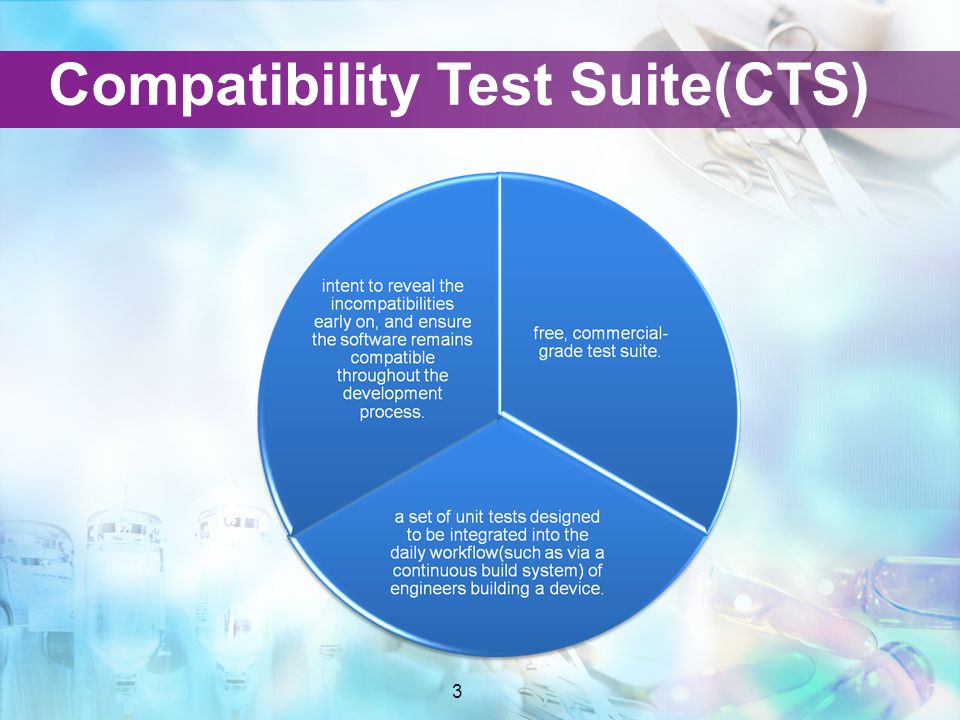 LOGO CTS introduction Jingtao  2 Agenda 3 Compatibility Test Suite