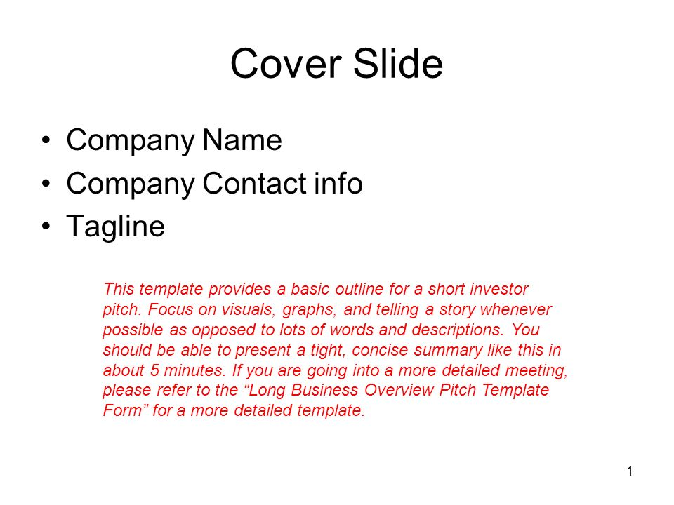 1 cover slide company name company contact info tagline this 1 cover slide company name company contact info tagline this template provides a basic outline for wajeb Choice Image