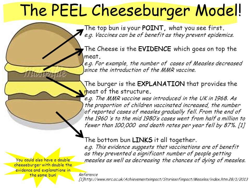 The Peel Cheeseburger Model The Top Bun Is Your Point What You See