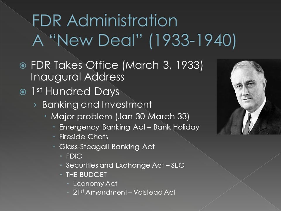 when did fdr take office