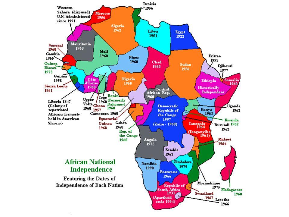modern day africa map Post World War Ii Africa Modern Day Rwanda South Africa modern day africa map