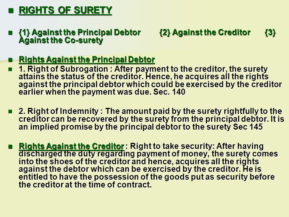 Idemnity Idemnity Guarantees Guarantees Bailment Bailment Pledge