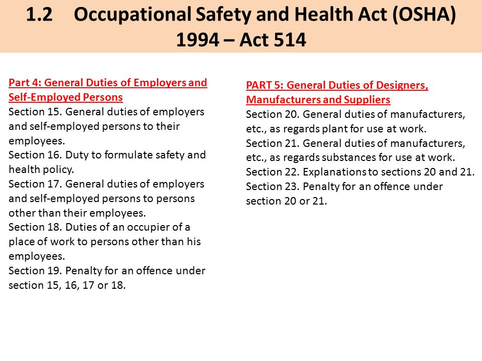 Dr Mohd Nasrull Bin Abdol Rahman Universiti Tun Hussein Onn Malaysia Uthm Chapter 1 Health Safety And Environmental Management Presented By Occupational Ppt Download