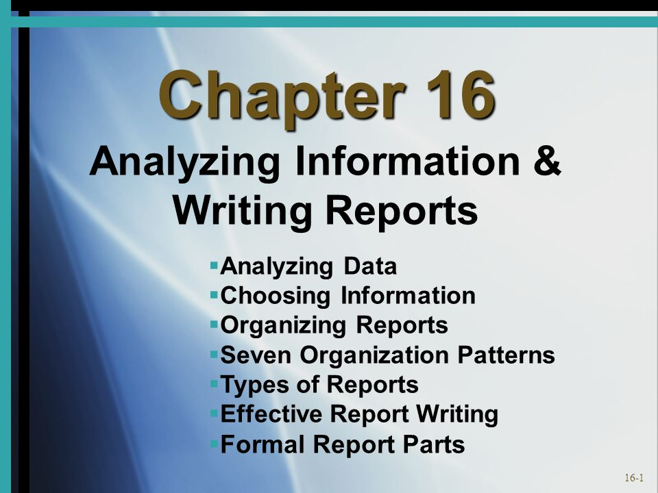 types of organizational patterns in writing