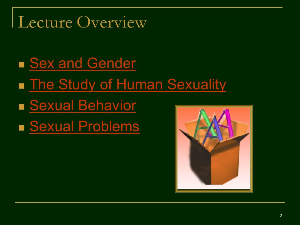 Human sexuality powerpoint presentation