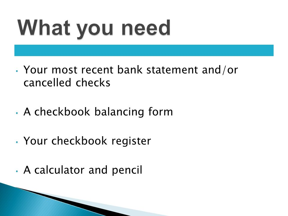 personal finance 101 your most recent bank statement and or