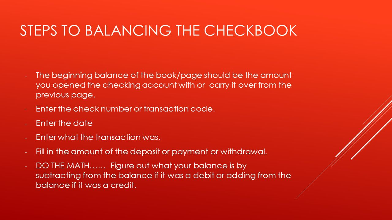 balancing a checkbook this lesson will teach you the importance of