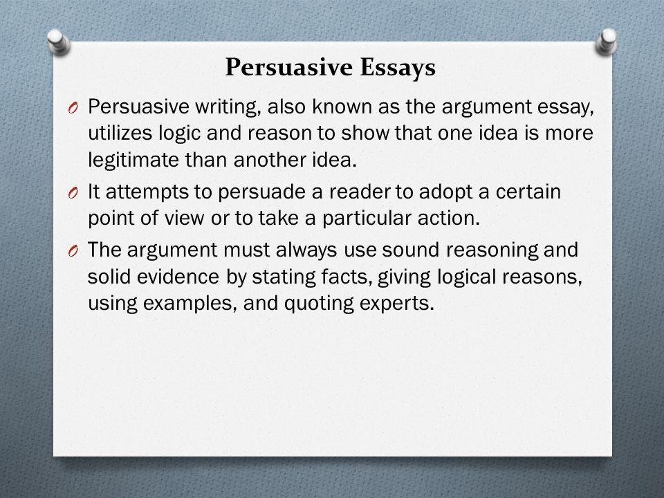 persuasive essay writing rules