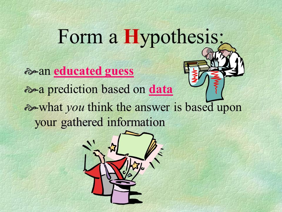 Information -  Gather data about your question.