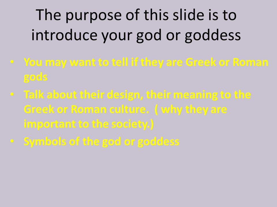 God/Goddess Name Presenters names: Class Period: Date: - ppt download