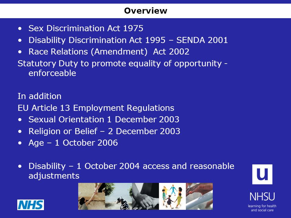 Sex discrimination act 1975 amendment 2003