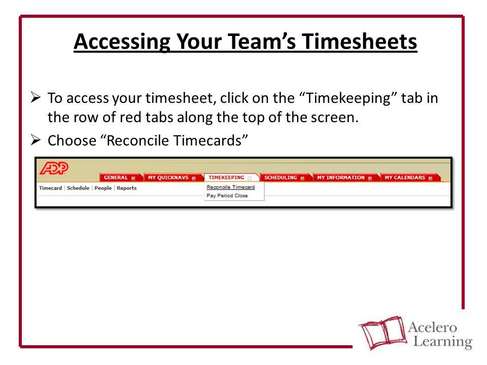 ADP E-Time Basic User Tutorial Manager Guide  Tasks covered