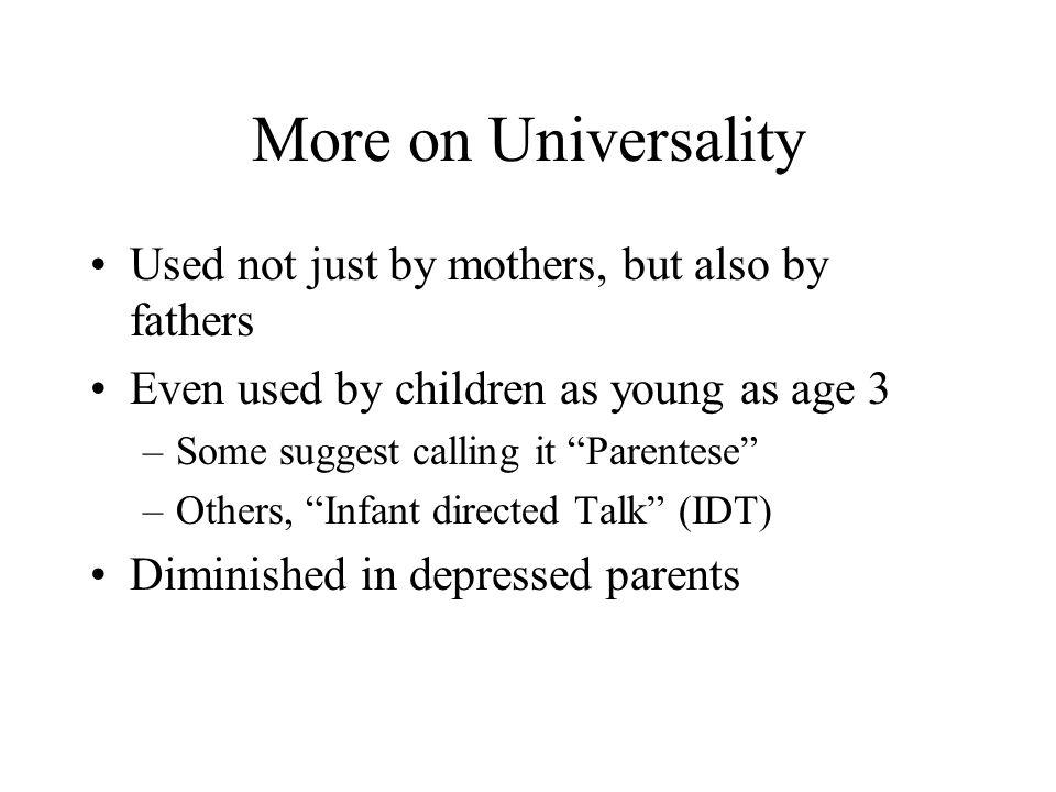 infant directed talk