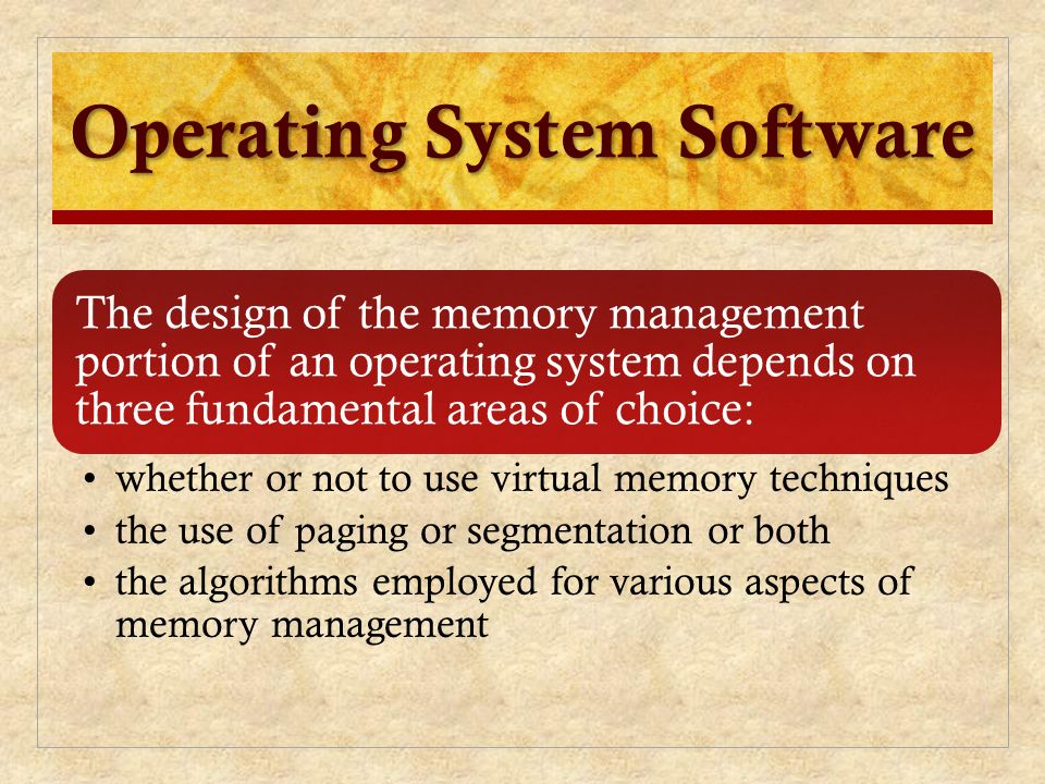 Chapter 8 Virtual Memory Operating Systems Internals And Design