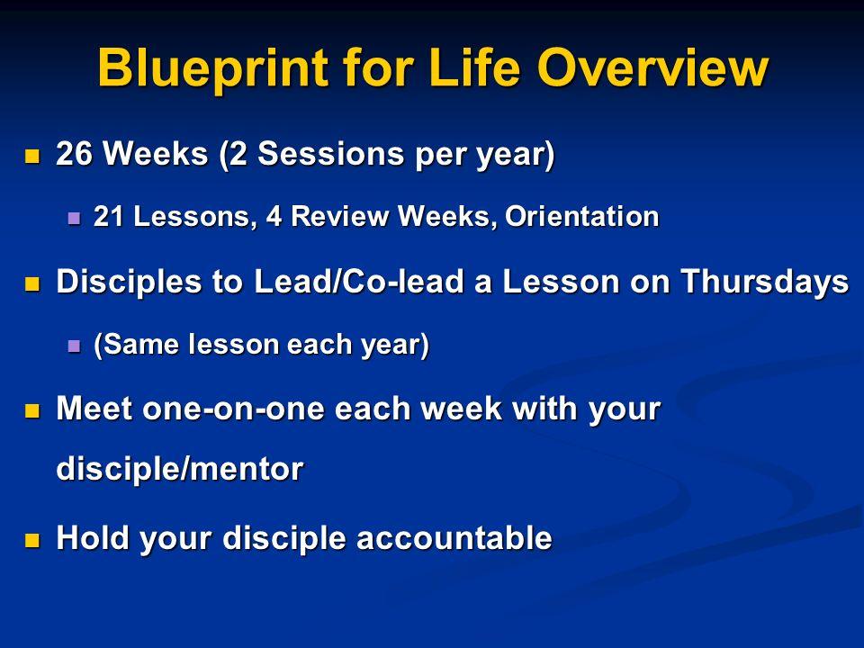 Blueprint for life discipleship blueprint for life overview 26 2 blueprint for life overview 26 weeks malvernweather Choice Image
