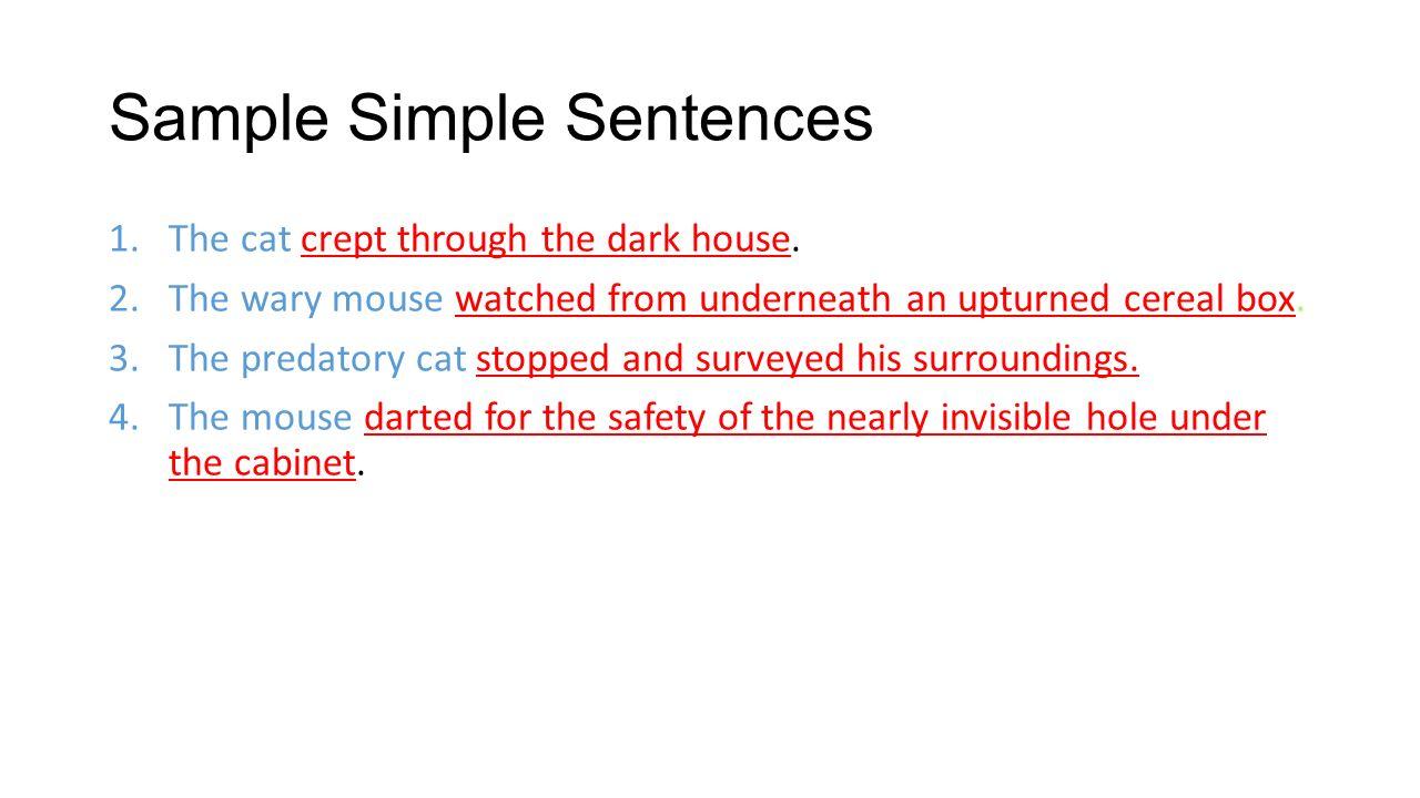 Simple sentences | theroommom.