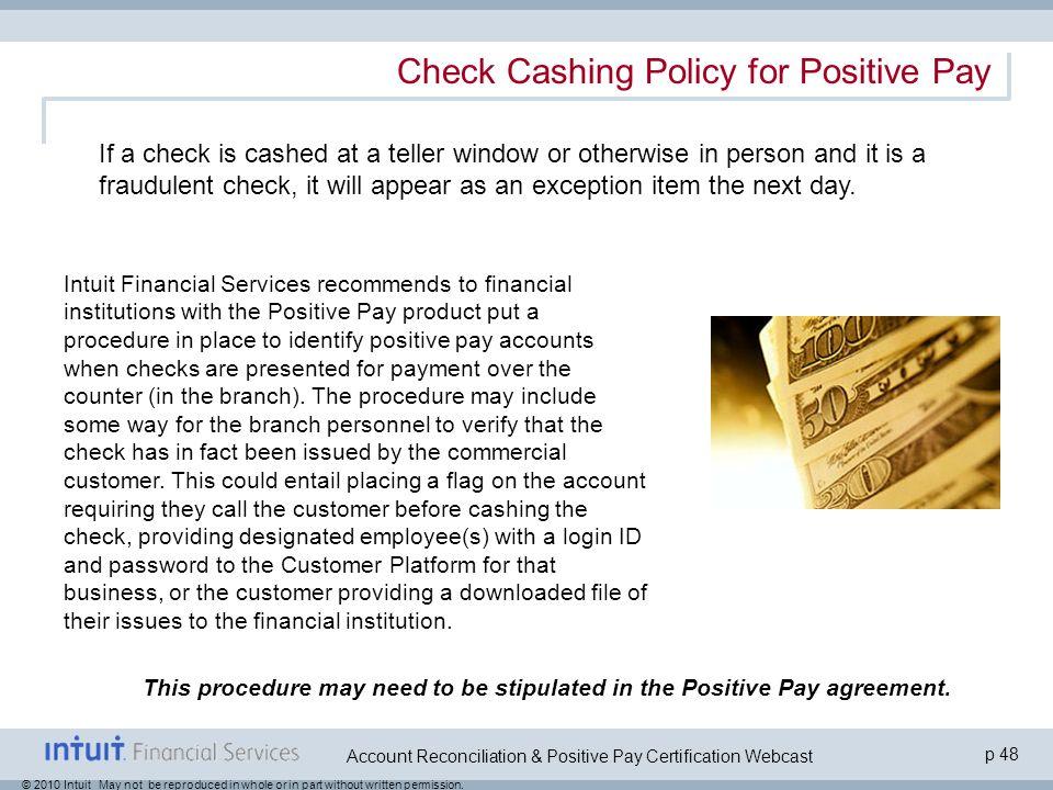 Account Reconciliation Positive Pay Option 2 Certification Webcast