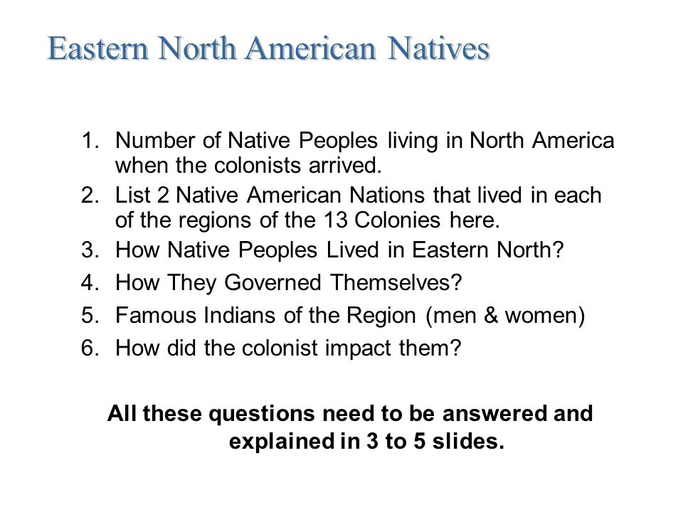 Directions for the unit on the 13 colonies you will be teaching the number of native peoples living in north america when the colonists arrived toneelgroepblik Image collections