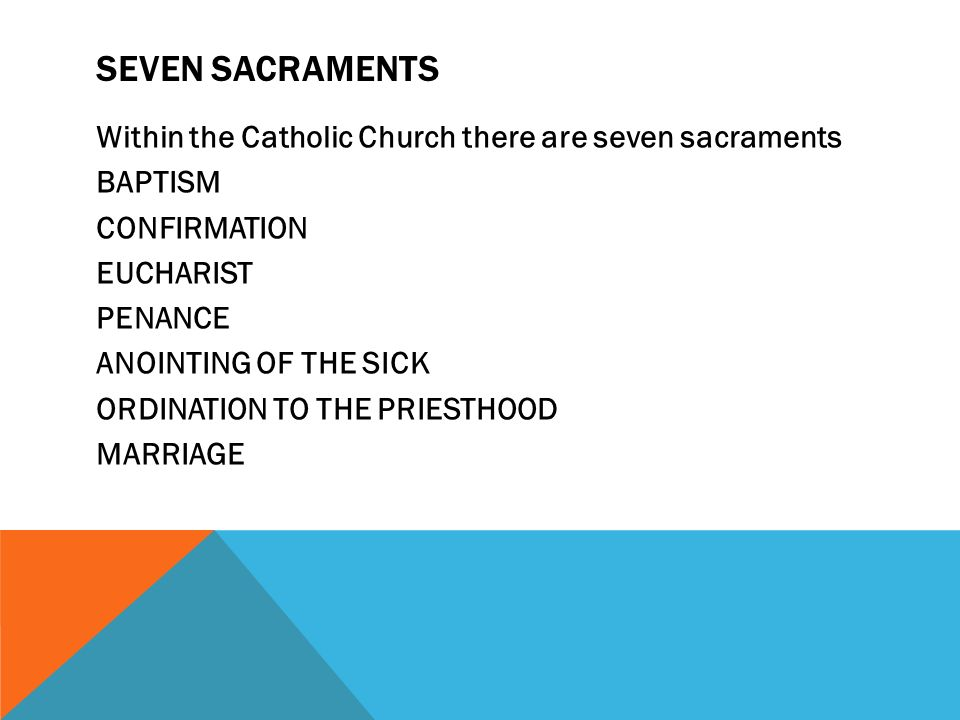 the seven sacraments of the catholic church essay While the church itself is the universal sacrament of salvation, the sacraments of the catholic church in the strict sense are seven sacraments that touch all the stages and all the important moments of christian life: they give birth and increase, healing and mission to the christian's life of faith .