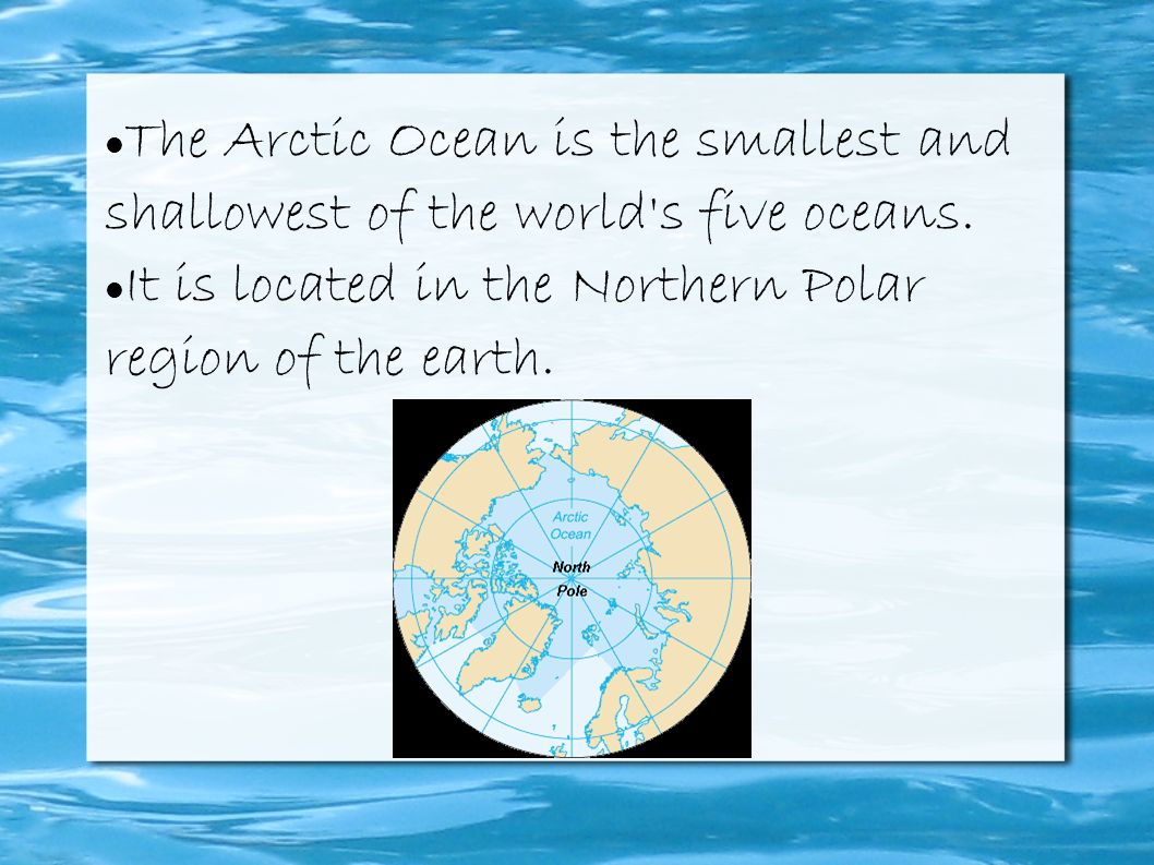 Interesting facts about the oceans