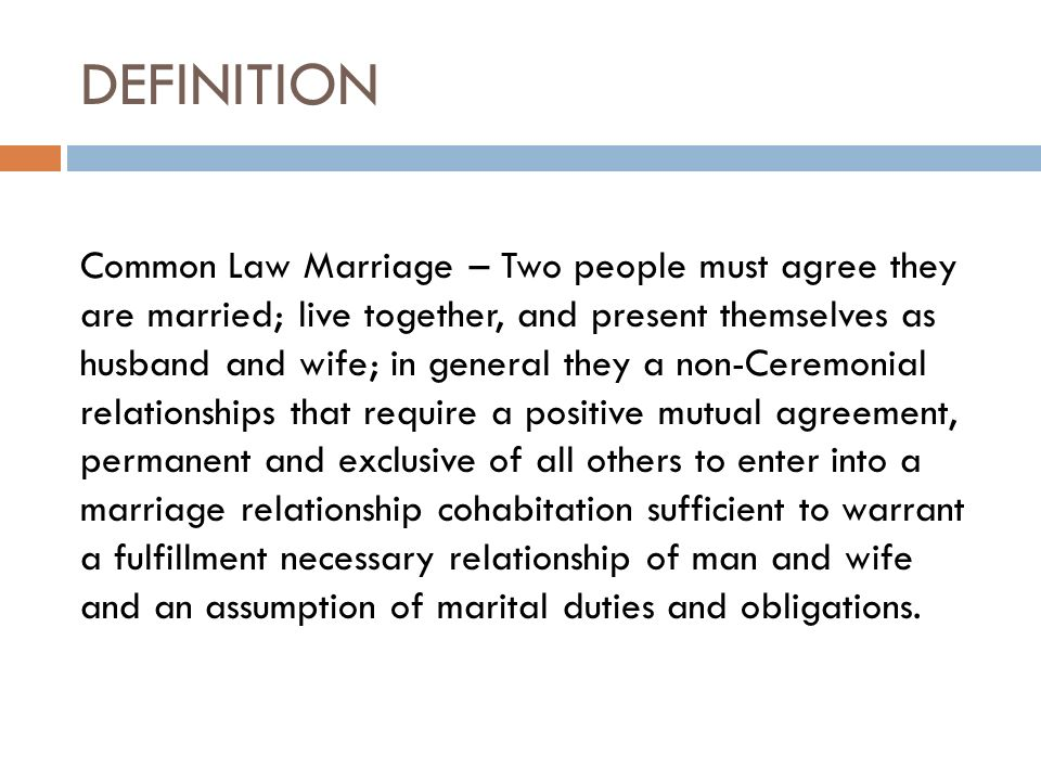 Common Law Marriage Vs Same Sex Marriage What You Need To Know