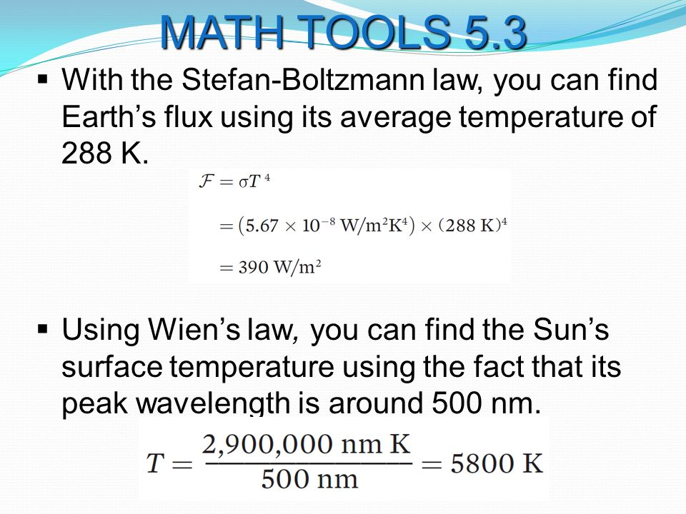  With the Stefan-Boltzmann law, you can find Earth's flux using its average temperature of 288 K.