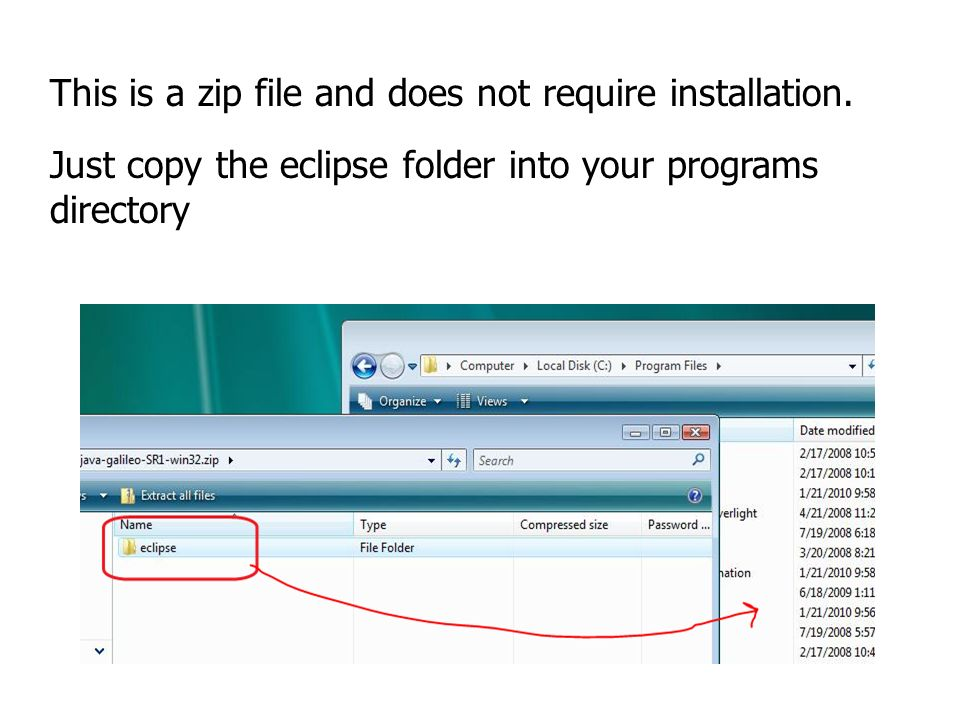 eclipse java galileo win32 zip