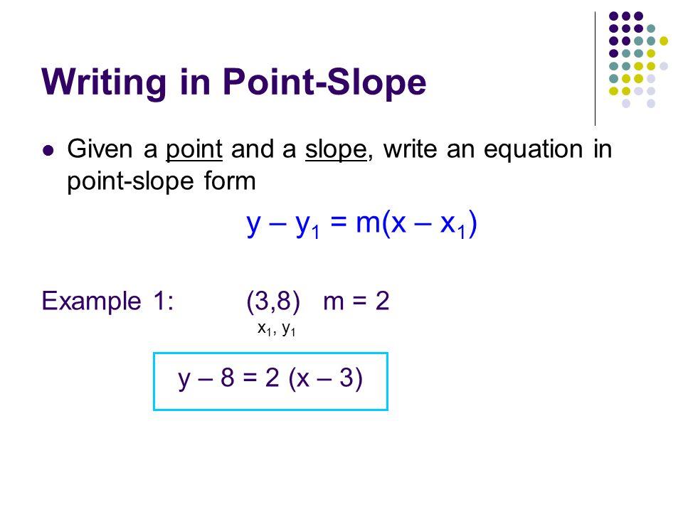 Warmups Find The Slope 1 2 5 3 1 2 6 4 3 7 Solve