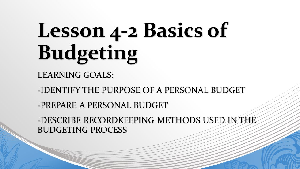 purposes budgeting The purpose of a budget a budget provides reviewers with an in-depth picture of how the project will be structured and managed budget details usually reveal whether a proposed project has been carefully planned.