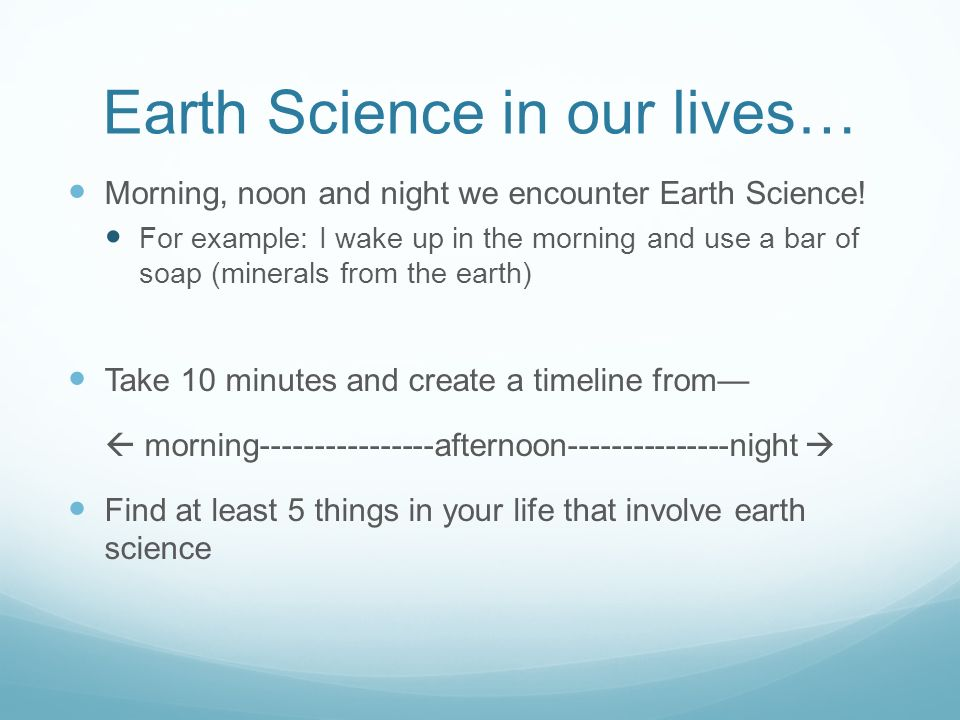 how does science apply to your life