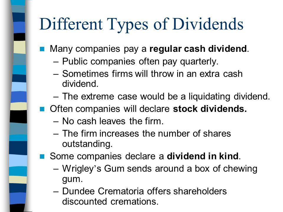 Liquidating dividend equation