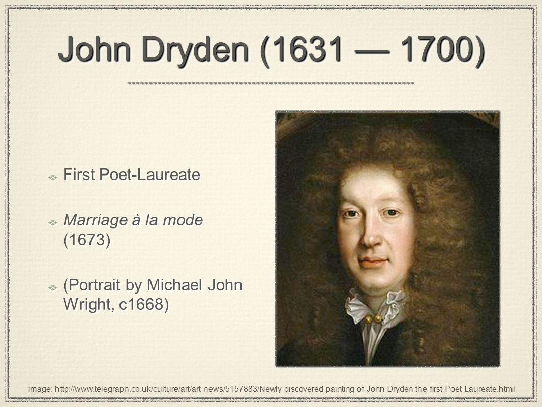 marriage a la mode dryden