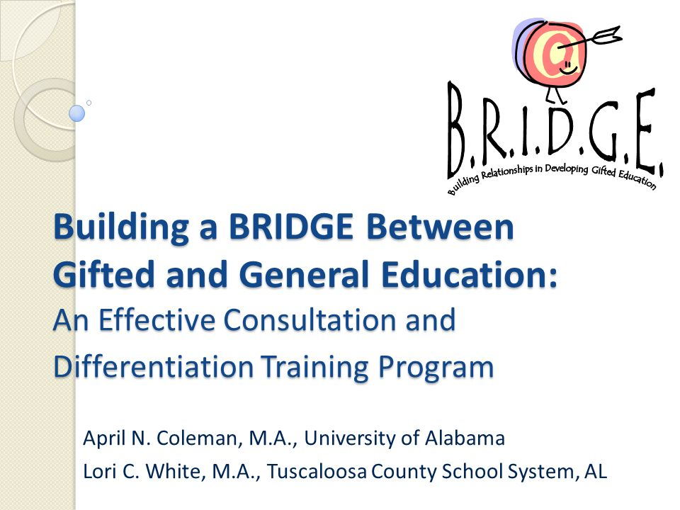 building a bridge between gifted and general education an effective rh slideplayer com