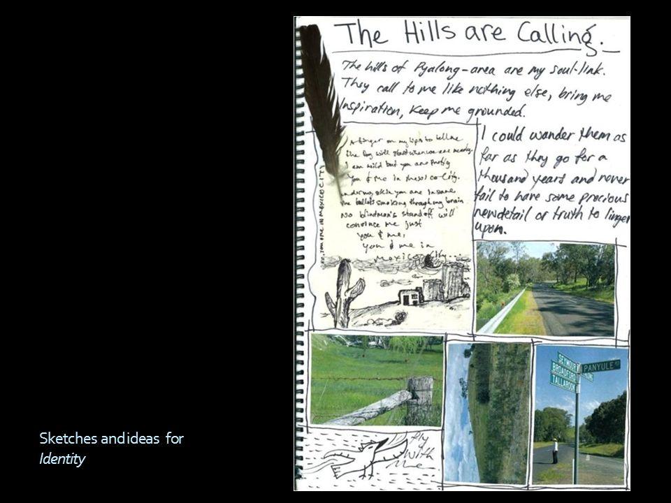 VCE Art Unit 1 Folio Leah  Mind map Identity Sketches  - ppt