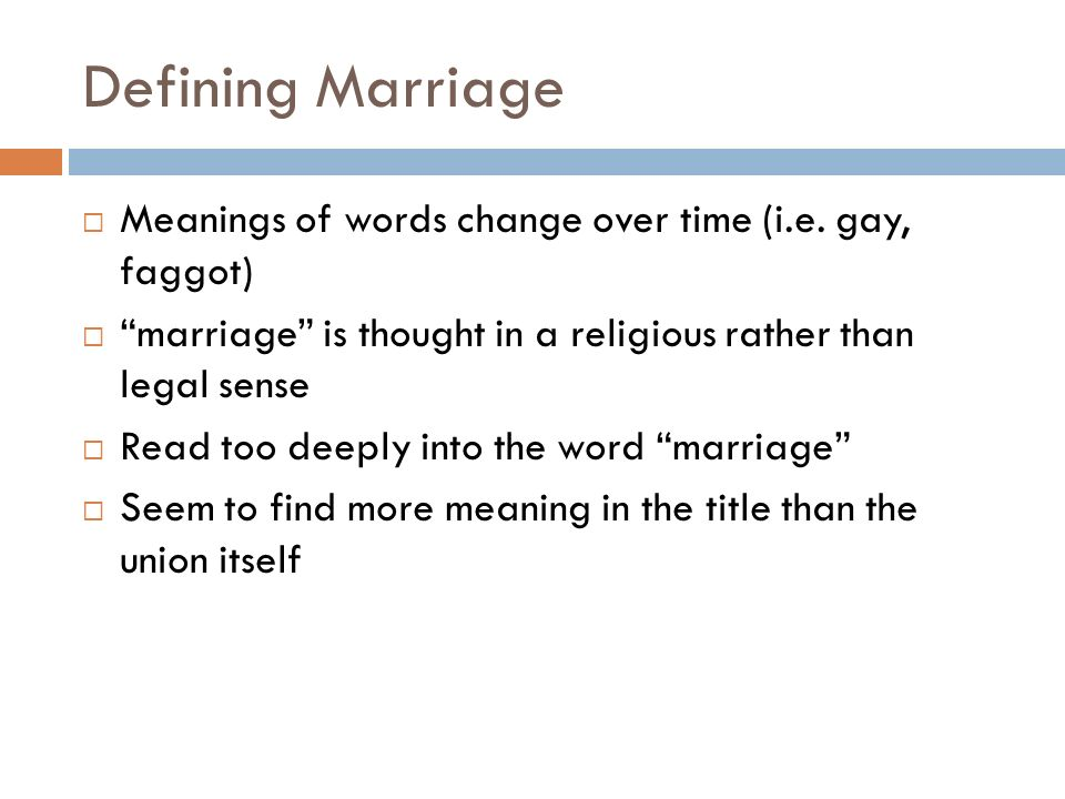 meaning of the word marriage