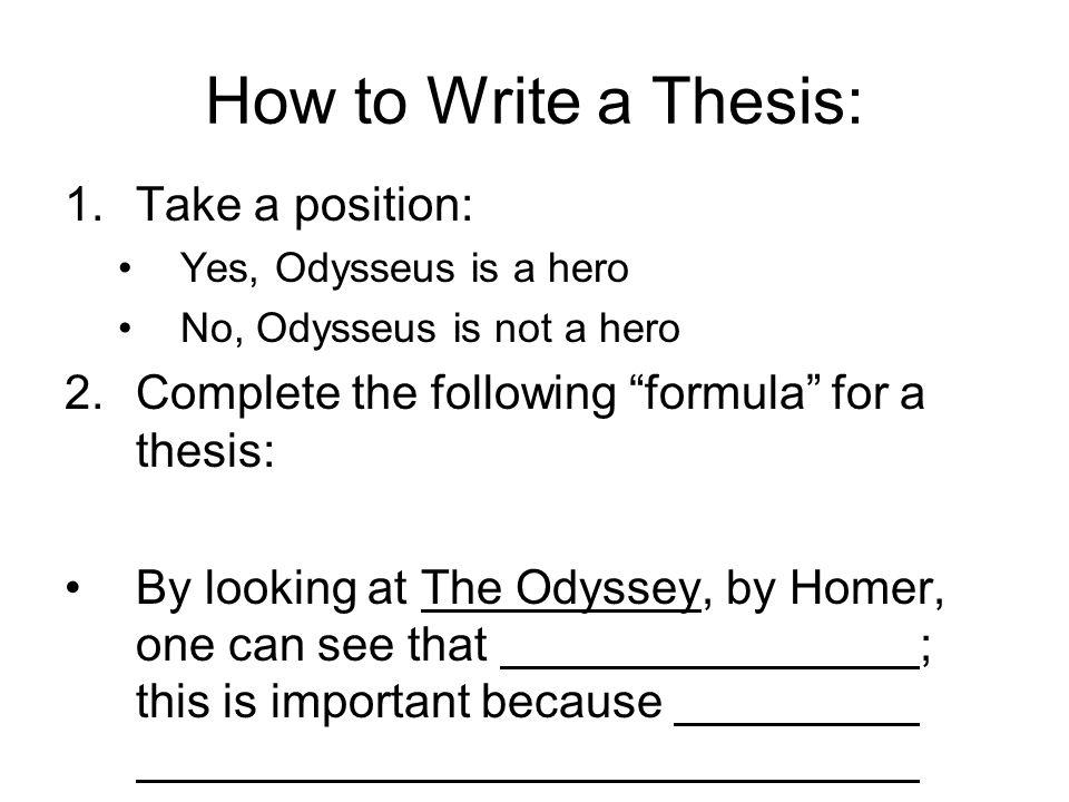 thesis statement odysseus hero