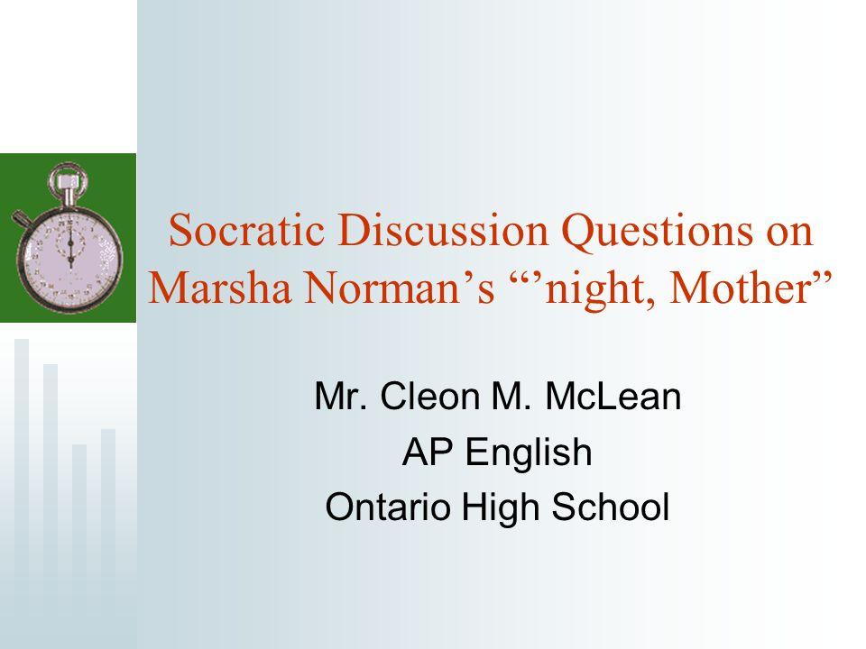 marsha norman night mother summary