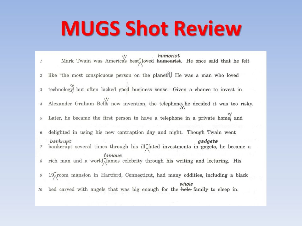 MUGS Shot Review