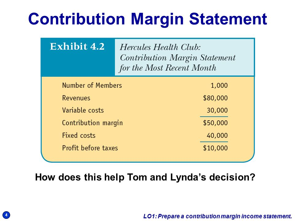 Sample Contribution Income Statement | 1 2 Traditional Income Statement Lo1 Prepare A Contribution Margin